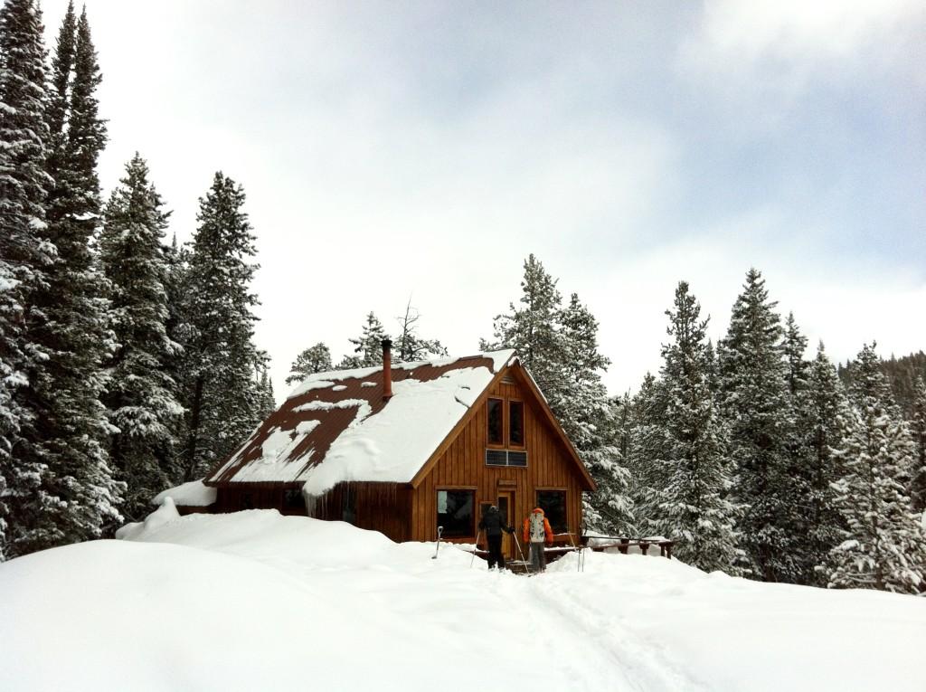 hut trip winter