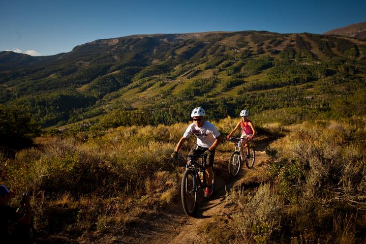 Biking Aspen Mountain