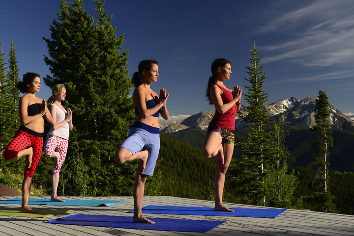 Yoga on Aspen Mountain