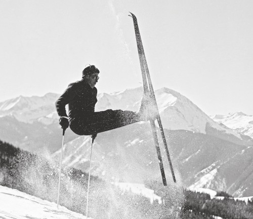 1955 Umsprung turn Aspen Mountain