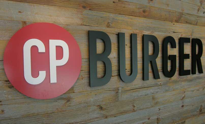 CP Burger Sign
