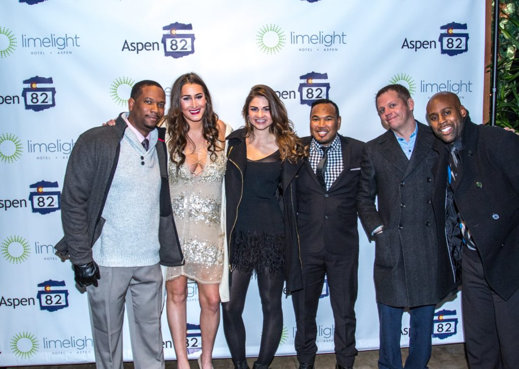 A group of attendees at the 2016 New Year's Eve party at the Limelight Hotel Aspen.