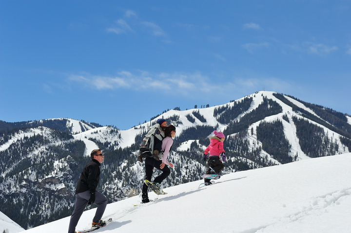 Snowshoeing Trails in Sun Valley