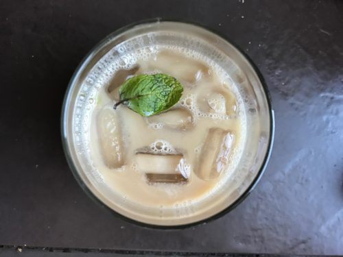 Minty White Russian with Almond Milk