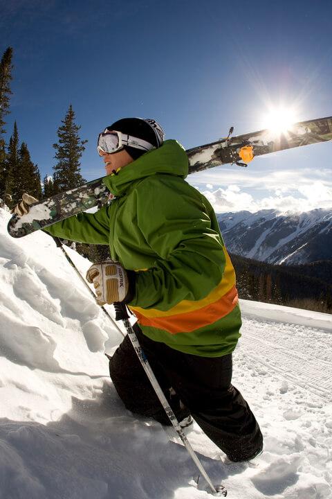 Backcountry skiing aspen Snowmass
