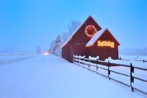 Sun Valley Barn in Winter