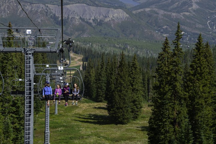Summertime on the Ski Lift in Snowmass