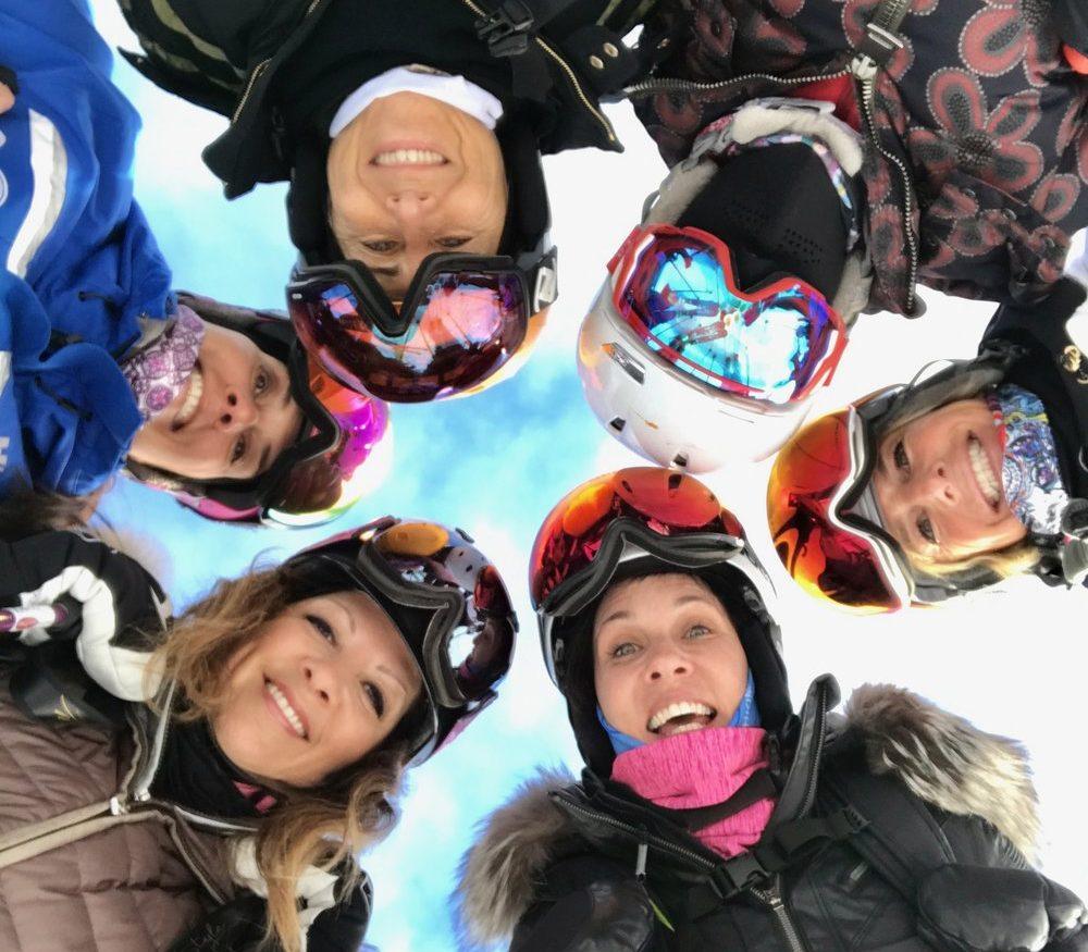 Ski with Kim Adventures - Women in ski gear