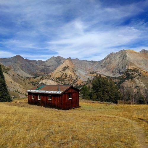 The Pioneer Cabin, which can be accessed via the Pioneer Cabin hiking trail, near the Limelight Hotel Ketchum.